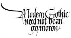 John Stevens Workshop-black letter  www.calligraphycentre.com
