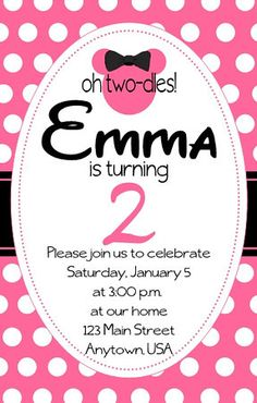 Emmas Minnie Mouse 2nd Birthday Mickey Clubhouse Party