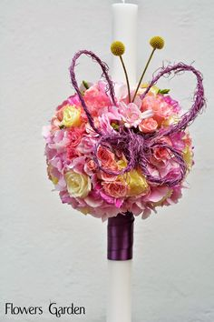 Flowers Garden, passion for colours: Lumanari botez Wax, Easter, Passion, Colours, Candles, Deco, Projects, Flowers Garden, Wedding
