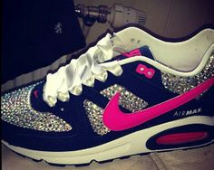 Bedazzled air max -- pretend the pink is red!