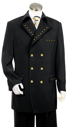 Statement Italian Fabric Black White Wide Stripe 3 Piece Suit TZ ...