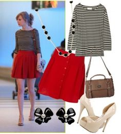 How to Dress Like Taylor Swift… for Less! – College Fashion Replace shoes with nude or black flats