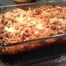 The Best Spaghetti Casserole Recipe