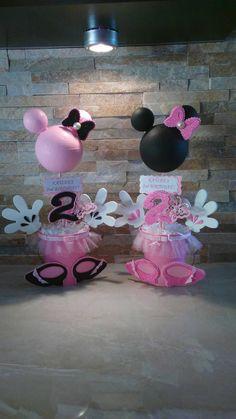 Centros de mesa de Minnie Mouse
