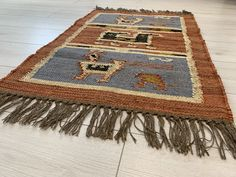 Kilim Rug Birds Wool Jute Indian Handmade – DesignsEmporium