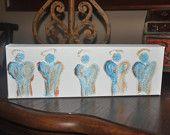 Acrylic Painting on Canvas - 12x4 Original Angel Painting