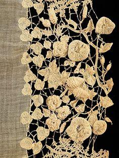 melalee | olgainoue: irish lace, part of a wedding dress...