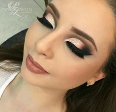 #makeup #make #esfumadopreto #brilho #ciliospostiço #contorno