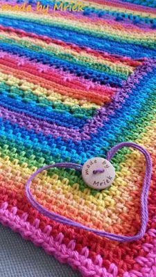 Regenboog babydeken - made by Mriek Blanket, Crochet, Baby, Ganchillo, Blankets, Baby Humor, Cover, Crocheting, Infant