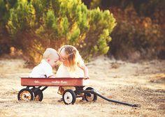 wagon - ring bearer and flower girl?