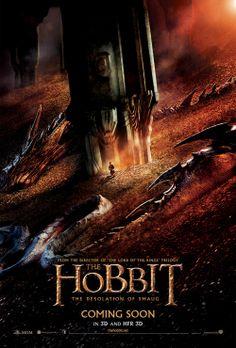 The Hobbit: The Desolation of Smaug (2013) Movie Poster #thehobbit #lotr #film
