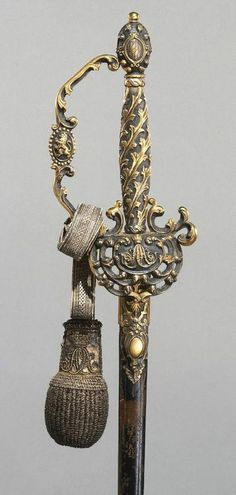 Parade Sword with Scabbard,      Maker: hilt made by Johann Stroblberger, German (active Munich)     Dated: circa 1825. |  Copyright © 2014 Philadelphia Museum of Art