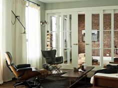 French doors are a lovely way to separate rooms yet make each seem more spacious and airy.