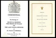 Royal wedding invitation - Charles & Diana