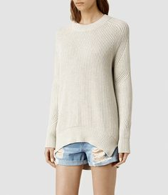 AllSaints Quinta Cotton Sweater ...I wish is came in black