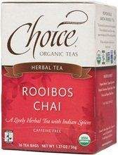 CHOICE ORGANIC TEAS TEA,OG2,ROOIBOS CHAI, 16 BAG -- For more information, visit image link.