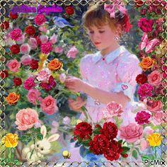 Girl in the wonderful garden