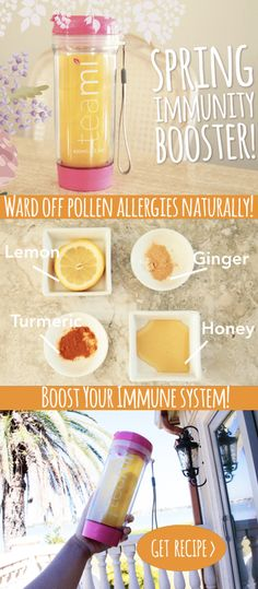 Spring is in full bloom! If you're sensitive to Pollen, you're going to need an immunity booster to make sure you don't get sick! Don't worry, we've got you covered with a simple DIY solution! Get our Spring Immunity Booster Recipe: http://www.teamiblends.com/RecipeInfo.asp?ID=90