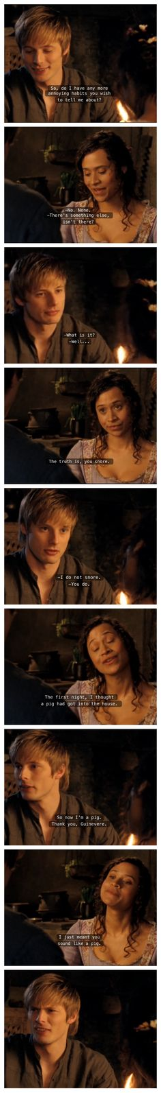 Awesome scene xD Merlin BBC Arthur and Guinevere Best Tv Shows, Best Shows Ever, Favorite Tv Shows, Smallville, Reign, Outlander, Once Upon A Time, Miss Fisher, Merlin Funny
