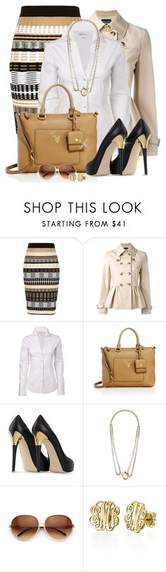 """""""Untitled #164"""" by missus-sara ❤ liked on Polyvore featuring River Island, Boutique Moschino, Ben Sherman, Prada, Le Silla, Balenciaga, Wildfox and My Name Necklace"""