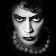 Dr. Frank-N-Furter (Tim Curry) in The Rocky Horror Picture Show.  Brings back so many memories of Friday nights at the 8th Street Playhouse in NYC...