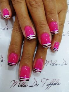 Pink zebra nails would do this on my toes also Black Nail Designs, Toe Nail Designs, Zebra Nails, Nagellack Design, Funky Nails, Bright Nails, Get Nails, Fabulous Nails, Creative Nails
