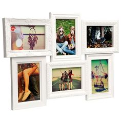 Photo Frame - White Specifications Material: Plastic, glass Dimensions: Overall: 36 x 52 x 2.5cm Holds six 4x6' (10 x 15cm) photos Design: Balvi