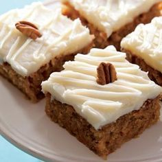 Sweet Potato Cake with Cream Cheese Icing~ A delicious way to turn a vegetable into a decadent dessert, this sweet potato cake features crunchy pecans and a sweet cream cheese icing.