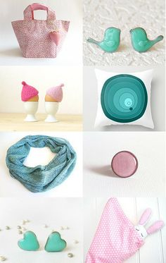 Blue and pink by Pirolices on Etsy--Pinned with TreasuryPin.com