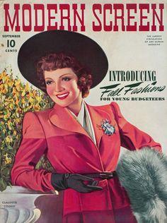 Modern Screen, September 1940 : Claudette Colbert