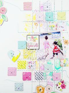 Mini Envelope Punch Board Layout by Soraya Maes for We R Memory Keepers Envelope Scrapbook, Love Scrapbook, Scrapbook Titles, Vintage Scrapbook, Scrapbook Designs, Scrapbooking Layouts, Scrapbook Cards, Scrapbook Organization, Envelope Punch Board