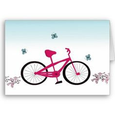 A pink bicycle, cycling motivation...
