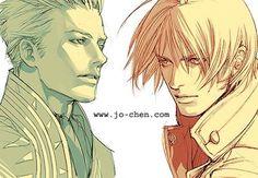 Imagem de vergil sparda, Dante, and devil may cry