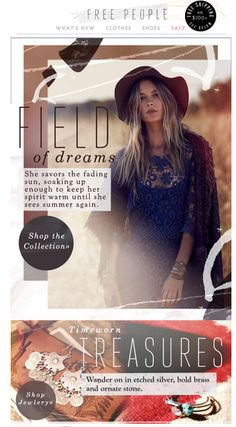 Free People Email Blasts | All Bohemian | Pinterest