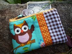 Owl Coin Purse Girls Zipper Wallet by BagsBeadsandMore on Etsy