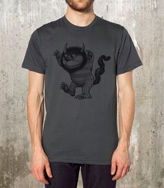 SALE - Where the Wild Things Are - Men's T-Shirt - American Apparel - Available in S, M, L, XL and 2XL on Etsy, Sold