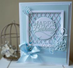 Tonic Studios Framed Lattice Card created by Dips. Birthday Cards For Women, Handmade Birthday Cards, Greeting Cards Handmade, Butterfly Cards, Flower Cards, Tonic Cards, Studio Cards, Spellbinders Cards, Baby Cards