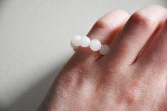 6mm Moonstone Zen Mala Ring, Minimalist Ring, Meditation Ring by ZenMalasCreations on Etsy https://www.etsy.com/listing/550460193/6mm-moonstone-zen-mala-ring-minimalist