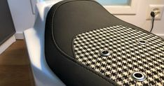 My new seat for the Pikes Peak 2021 version with Porsche Classic influence including leather and houndstooth mix with eyelets of course. So nice.... Porsche Classic, Pikes Peak, Houndstooth, Nice, Leather, Nice France