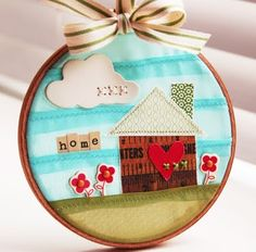 Simplify it and each kid has their own story in a dream catcher, ornament, picture, whatever you want to call it.