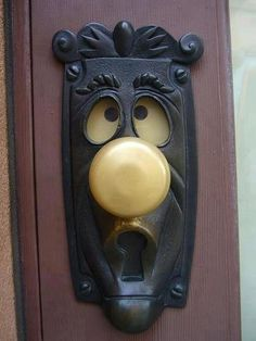 What a fun and silly door knob.