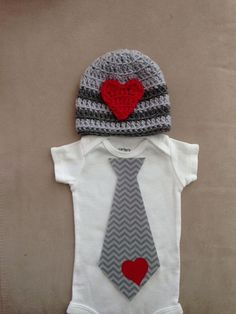 Valentine's Day outfit for baby boys  Chevron tie by rbsDesigns, $39.00