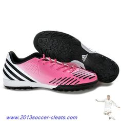 new product 2a707 e6170 2013 Adidas Predator Absolado LZ TRX Turf Shoes Pink white black For  Wholesale Nike Lebron,