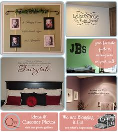 Vinyl wall decor, words, monogram, laundry, spiritual quotes