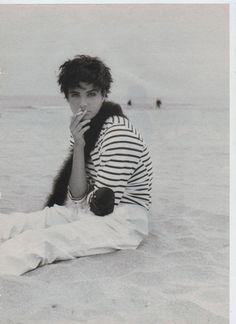 Helena Christensen | Photography by Marianne Chemetov | For Elle Magazine France | July 1990 #helenachristensen #mariannechemetov #elle #1990