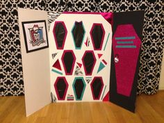 Monster High Birthday Party Game Idea - A revised version of the punch box game to match the Monster High Theme. Prizes are hidden behind the coffins that are actually tissue paper. Appeal to boys 9th Birthday Parties, Birthday Party Games, Slumber Parties, 7th Birthday, Birthday Ideas, Carnival Birthday, Happy Birthday, Festa Monster High, Monster High Birthday
