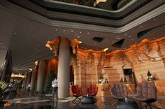 DISINTEGRATING CEILING | Hotel Lobby, raw and refined, artistic installation in interior design