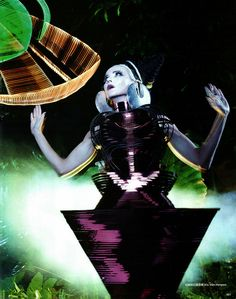 Daphne Guinness by David Lachapelle for Harper's Bazaar China December 2012