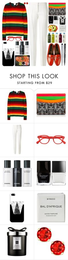 """Striped wool jumper"" by barbarela11 ❤ liked on Polyvore featuring N°21, Liberty, Victoria Beckham, See Concept, Faber-Castell, Butter London, Casetify, Byredo and Jo Malone"