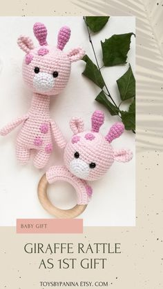 Giraffe Crochet, Crochet Toys, Crochet Baby, Newborn Toys, Baby Toys, Gifts For Expecting Dads, Gender Reveal Party Gifts, 1st Birthday Gifts, Funny Birthday